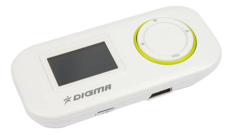 mp3-плеер 4Gb Digma R1 белый - фото 4