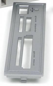 Съемная передняя панель Acorp к устройству чтения карт памяти CRIP200 Silver (Серебристый)