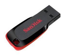 Флеш диск 32Gb Sandisk Cruzer Blade USB2.0 черный / красный