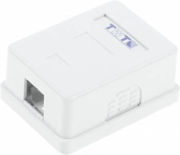 Коробка Lanmaster TWT-SA1-WH настенная 62x67x30мм крышка Keystone ПВХ белый (упак.:1шт)