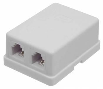 Коробка Lanmaster TWT-SA2-WH настенная белый