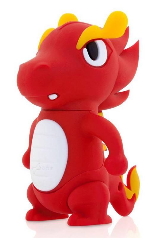Флеш диск 4Gb Bone Dragon USB2.0 красный - фото 1