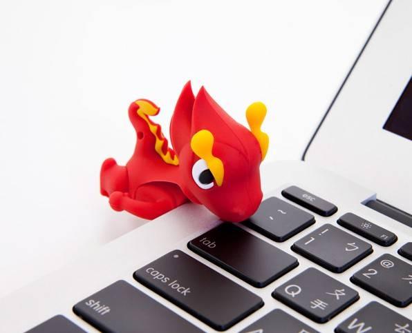 Флеш диск 4Gb Bone Dragon USB2.0 красный - фото 2