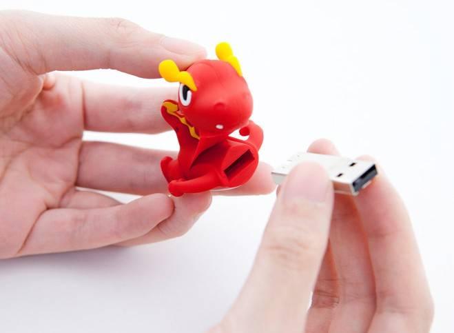 Флеш диск 4Gb Bone Dragon USB2.0 красный - фото 3
