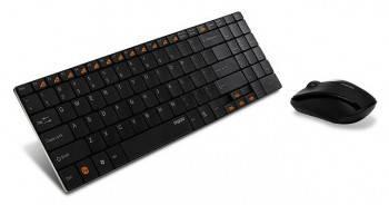 Комплект клавиатура+мышь Rapoo 9060 черный / черный