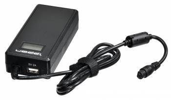 Блок питания Ippon D90U черный, мощность 90Вт, выходное напряжение от 15 до 19.5В, максимальный ток 8A, длина кабеля 1.2м, питание от бытовой электросети