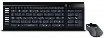 Комплект клавиатура+мышь Oklick 220M черный / черный