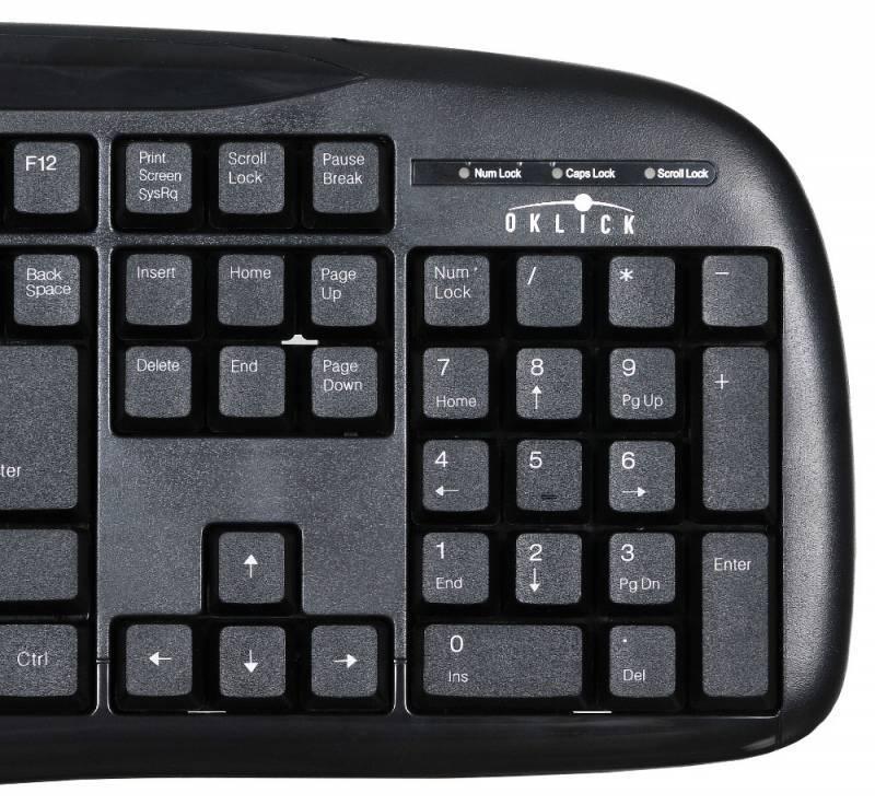 Клавиатура Oklick 150M черный - фото 4