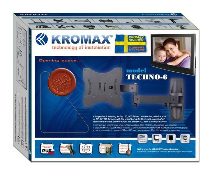 Кронштейн для телевизора Kromax TECHNO-6 серый - фото 2