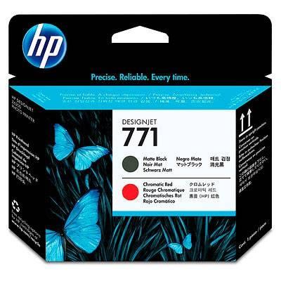 Картридж струйный HP CE017A черный матовый/хроматический красный - фото 1