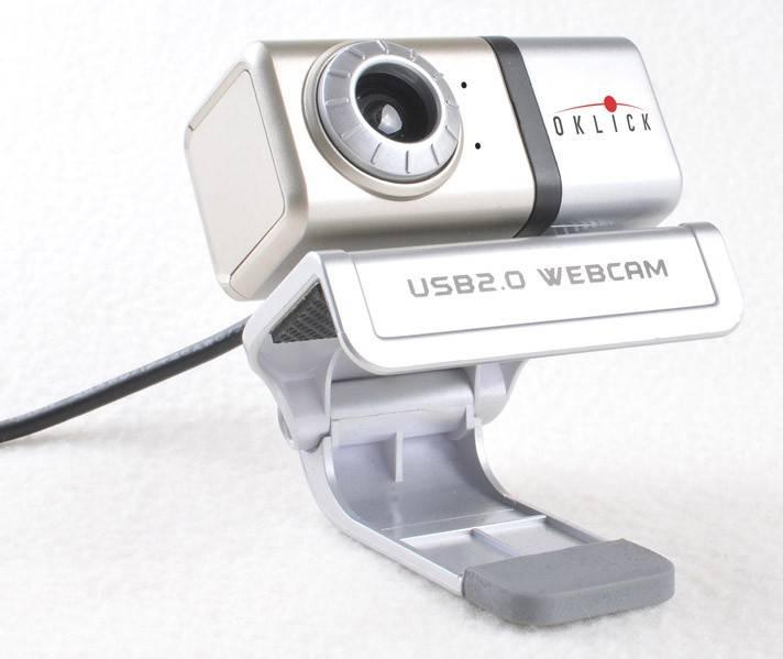 Веб-камера Oklick FHD-100L серебристый - фото 2