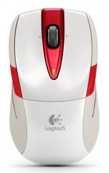Мышь Logitech M525 белый / красный