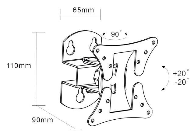 Кронштейн для телевизора Arm Media LCD-101 черный (10005) - фото 2