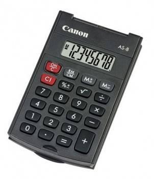 Калькулятор карманный Canon AS-8 черный (AS-8 HB)