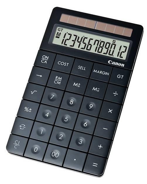 Калькулятор бухгалтерский Canon X Mark I черный 12-разр. - фото 1