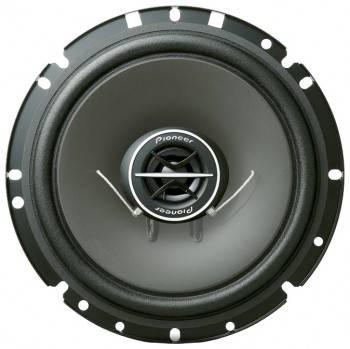 Колонки автомобильные Pioneer TS-1702I, максимальная мощность 170 Вт, размер динамика 17 см (6 3/4 дюйм.), коаксиальные, двухполосные, чувствительность 90дБ, импеданс 4Ом