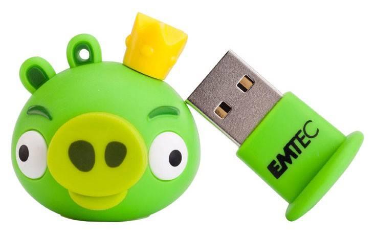 Флеш диск Emtec A101 Green Pig 4ГБ USB2.0 зеленый - фото 1