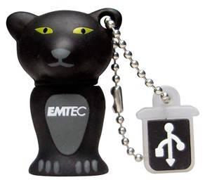 Флеш диск 4Gb Emtec M313 Panther USB2.0 черный / серый