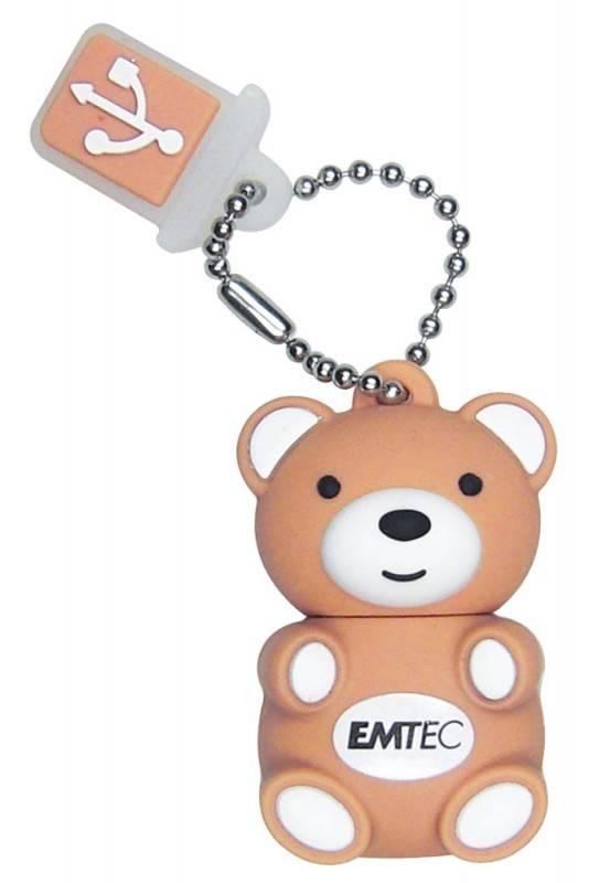 Флеш диск 8Gb Emtec M311 Teddy USB2.0 коричневый - фото 1