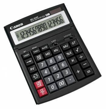 Калькулятор бухгалтерский Canon WS-1610T черный