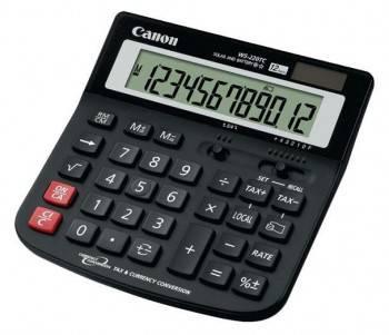 Калькулятор Canon WS-220 черный 12-разр.