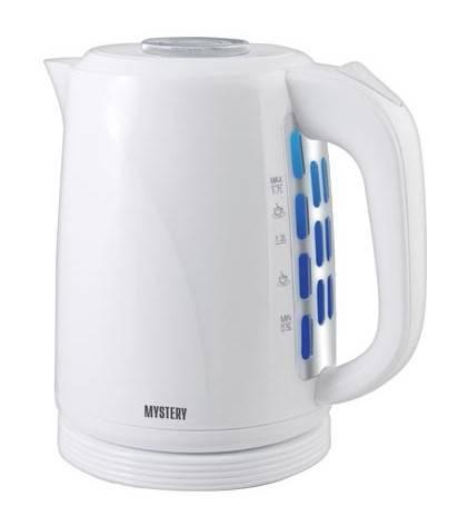 Чайник электрический Mystery MEK-1619 белый - фото 1