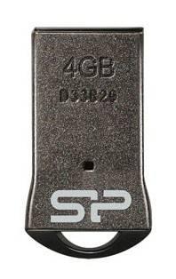 Флеш диск Silicon Power Touch T01 4ГБ USB2.0 черный / серебристый