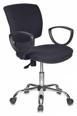 Кресло Бюрократ CH-626AXSL/10-11, цвет обивки: черный 10-11, ткань, крестовина хромированная