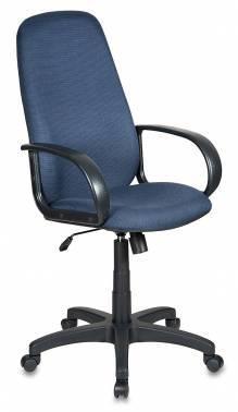 Кресло руководителя Бюрократ Ch-808AXSN черный/синий (CH-808AXSN/Bl&Blue)