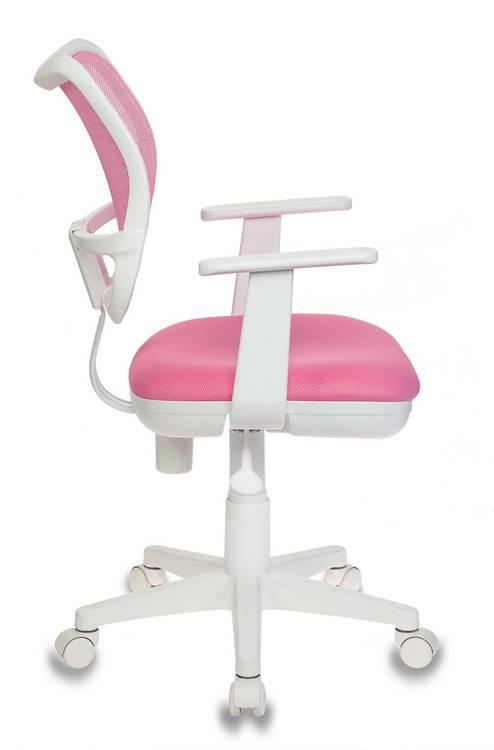 Кресло детское Бюрократ Ch-W797 розовый/розовый - фото 3