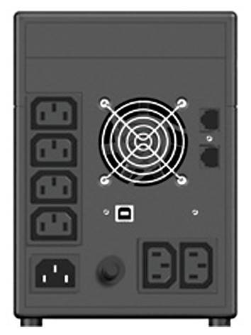 ИБП Eaton NV 1400H 840Вт серый - фото 2