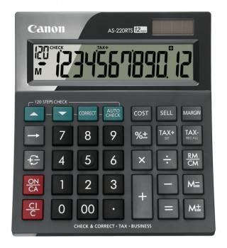 Калькулятор бухгалтерский Canon AS-220RTS черный