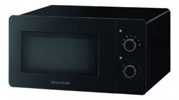 Микроволновая Печь Daewoo KOR-5A17B черный, мощность 500Вт, объем 15л, покрытие камеры эмаль, механическое управление
