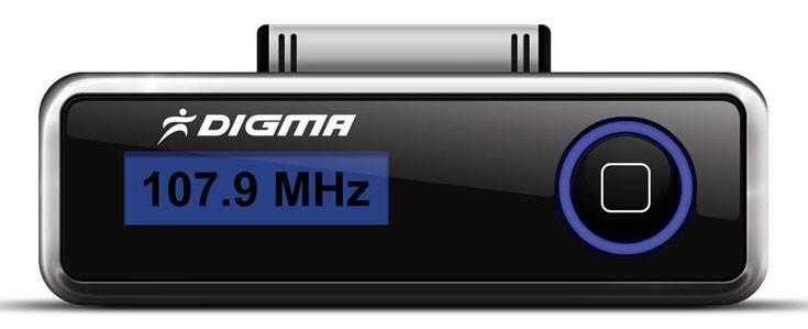FM-модулятор Digma iFT503 черный - фото 1
