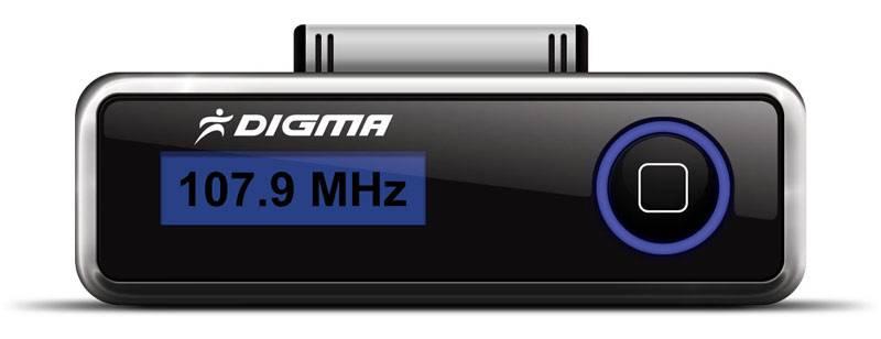 FM-модулятор Digma iFT503 черный - фото 2