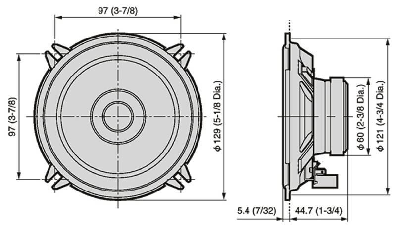 Автомобильные колонки Pioneer TS-1301I - фото 3