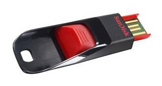 Флеш диск 32Gb Sandisk Cruzer Edge USB2.0 красный / черный