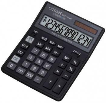 Калькулятор бухгалтерский Citizen SDC-414 N черный (SDC-414N)