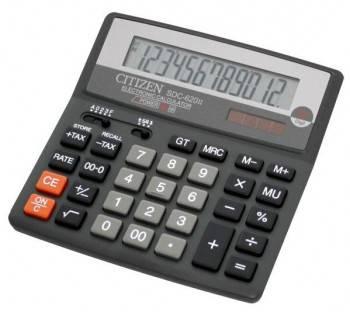 Калькулятор бухгалтерский Citizen SDC-620 II черный (SDC-620II)