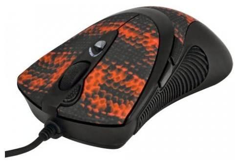Мышь A4 V-Track F7 черный/красный - фото 1