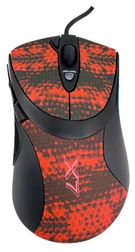 Мышь A4 V-Track F7 черный/красный - фото 2