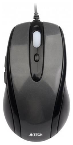 Мышь A4 D-708X серый - фото 1