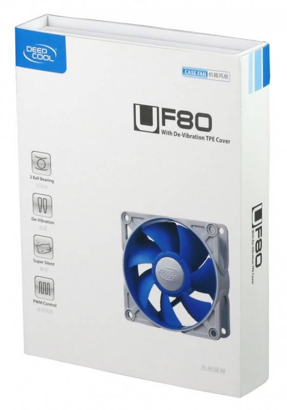Вентилятор Deepcool UF80, размер 80x80x25мм (UF 80) - фото 3