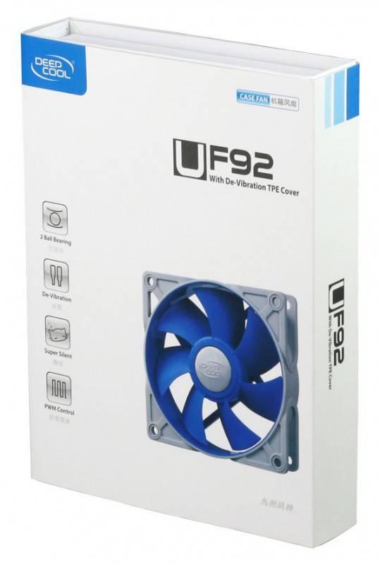 Вентилятор Deepcool UF92, размер 90x90x25мм (UF 92) - фото 2