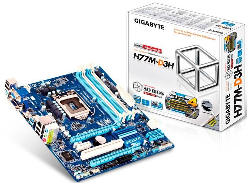 Материнская плата Soc-1155 Gigabyte GA-H77M-D3H mATX - фото 4