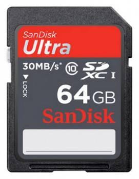 Карта памяти SDXC 64Gb Class10 Sandisk Ultra SDSDU-064G-U46