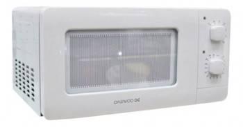 Микроволновая Печь Daewoo KOR-5A07W белый, мощность 500Вт, объем 15л, покрытие камеры эмаль, механическое управление