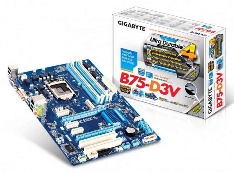 Материнская плата Soc-1155 Gigabyte GA-B75-D3V ATX - фото 3