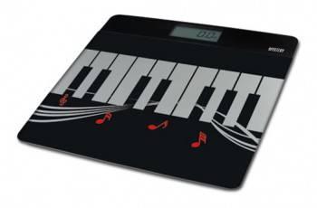 Весы напольные электронные Mystery MES-1812 черный / белый
