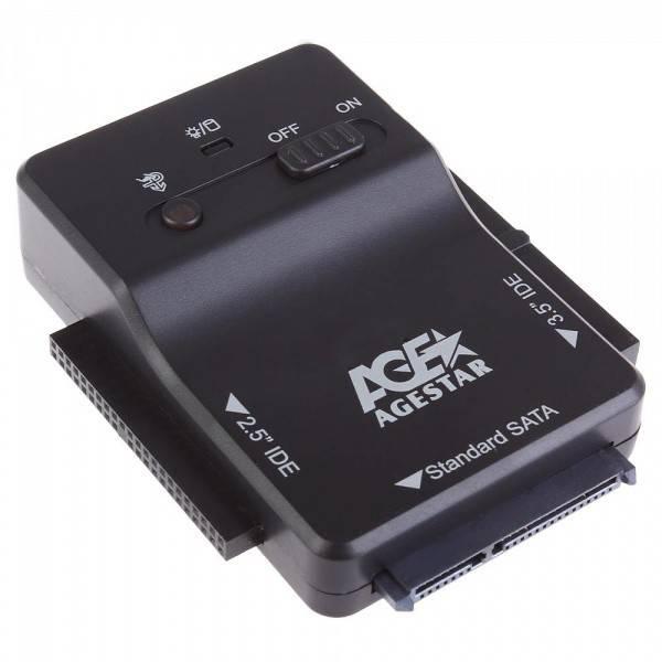 Адаптер-переходник AgeStar 3FBCP1 черный - фото 2